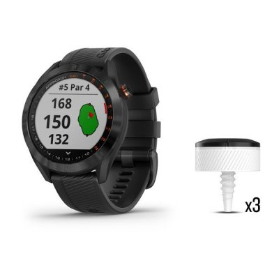 Garmin Approach S40 Black GPS hodinky + CT10 Club Tracking senzory 3 ks